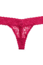 3-pack thong briefs - Dark pink -  | H&M 5