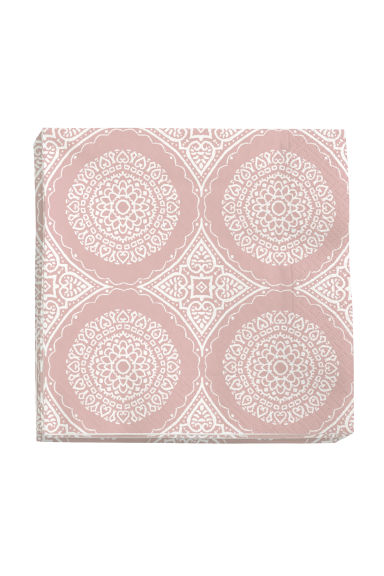 Paper napkins  - Light pink/Patterned - Home All | H&M CN 1