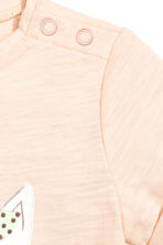 Printed top - Powder pink -  | H&M 2