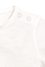 Printed top - White -  | H&M 2
