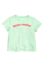 Printed top - Mint green - Kids | H&M 1