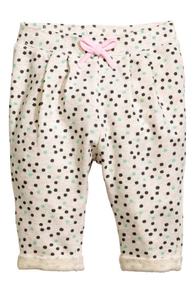 Joggers - Light beige/Spotted -  | H&M 1