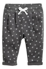 Joggers - Dark grey/Hearts -  | H&M CN 1