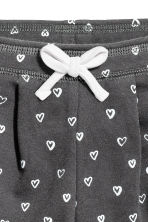 Joggers - Dark grey/Hearts -  | H&M CN 2