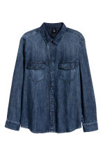 Denim shirt - Dark denim blue - Men | H&M 1