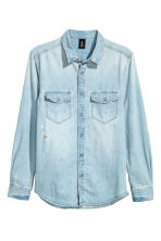 丹寧襯衫 - Light denim blue - Men | H&M 2