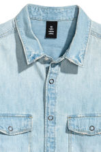 丹寧襯衫 - Light denim blue - Men | H&M 3