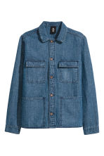 Denim utility jacket - Denim blue - Men | H&M CN 2