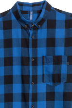 Camicia in flanella a quadri - Blu/nero - UOMO | H&M IT 3
