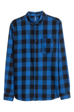 Camicia in flanella a quadri - Blu/nero - UOMO | H&M IT 2