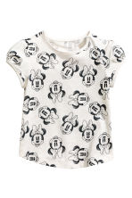 2-pack printed tops - Powder pink/Minnie Mouse - Kids | H&M 2