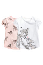 2-pack printed tops - White/Bambi - Kids | H&M 1