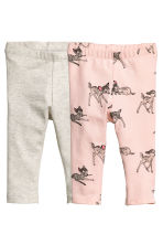 2-pack leggings - Light pink/Bambi - Kids | H&M CN 1