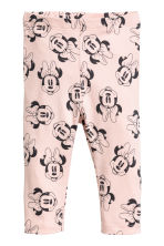 2-pack leggings - Powder pink/Minnie Mouse - Kids | H&M 2