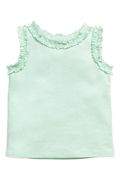 Frill-trimmed top - Mint green - Kids | H&M CN 1