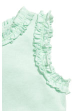 Frill-trimmed top - Mint green -  | H&M 2