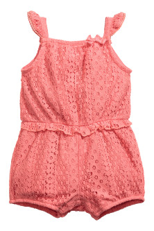 Lace romper suit