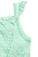 Lace romper suit - Mint green -  | H&M CN 2