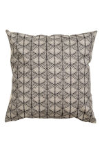 Patterned cushion cover - Anthracite grey - Home All | H&M CN 2