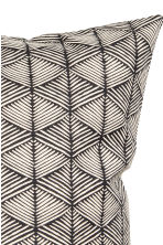 Patterned cushion cover - Anthracite grey - Home All | H&M CN 3