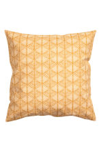 Patterned cushion cover - Mustard yellow - Home All | H&M CN 1