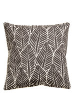 Leaf-print cushion cover - Anthracite grey - Home All | H&M CN 2