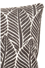 Leaf-print cushion cover - Anthracite grey - Home All | H&M CN 4