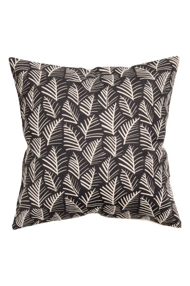 Patterned cushion cover - Anthracite grey/Leaf - Home All | H&M GB