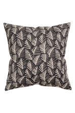 Patterned cushion cover - Anthracite grey/Leaf - Home All | H&M CN 1