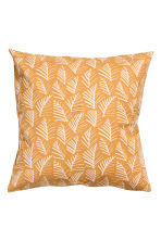 Patterned cushion cover - Mustard yellow/Leaf - Home All | H&M GB 2