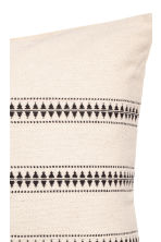 Jacquard-pattern cushion cover - Natural white/Striped -  | H&M CN 2
