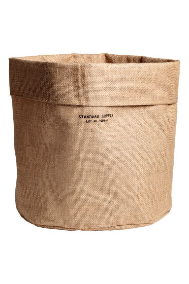 Large jute storage basket - Natural - Home All | H&M CN 1