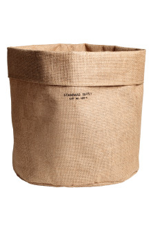 Large jute storage basket