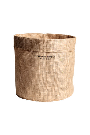 Small jute storage basket - Natural - Home All | H&M CN 1