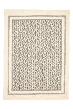 Patterned tablecloth - Natural white/Leaf  - Home All | H&M CN 3