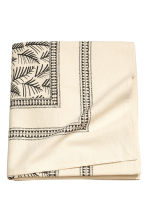 Patterned tablecloth - Natural white/Leaf  - Home All | H&M CN 2