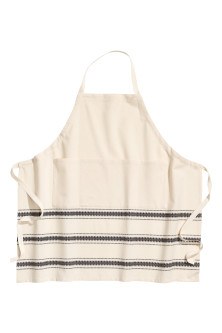 Jacquard-patterned apron