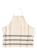 Jacquard-patterned apron - Natural white/Striped - Home All | H&M CN 1