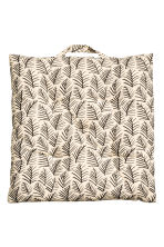 Patterned seat cushion - Natural white/Leaf  - Home All | H&M CN 2