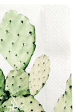 Serviettes en papier - Blanc/cactus - Home All | H&M FR 2