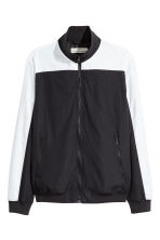 Jacket with a stand-up collar - Black/White - Men | H&M 2