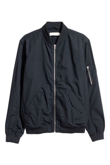 Bomber in cotone - Blu scuro -  | H&M IT