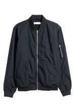 Cotton bomber jacket - Dark blue - Men | H&M 2
