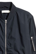 Cotton bomber jacket - Dark blue - Men | H&M 3