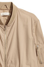 Cotton bomber jacket - Beige - Men | H&M 3