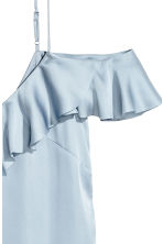 Frilled strappy top - Light blue - Ladies | H&M CN 3