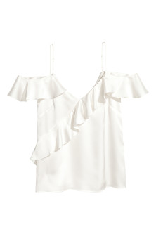 Frilled strappy top