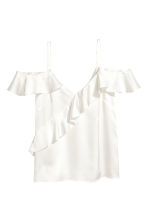 Frilled strappy top - White - Ladies | H&M CN 2