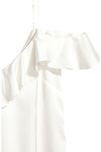 Frilled strappy top - White - Ladies | H&M CN 3