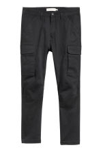 Cargo trousers - Black -  | H&M CN 2